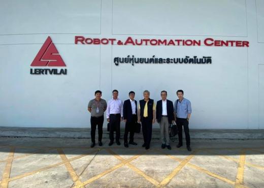 ผู้บริหาร OTC และคณะเข้าเยี่ยมชมศูนย์ Robot & Automation Center ที่ Lertvilai